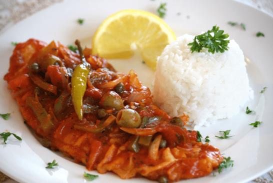 Receta para preparar pescado a la veracruzana